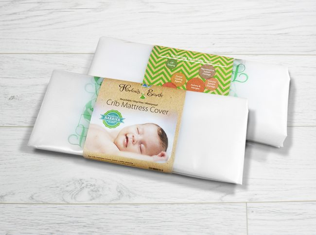 Protective Barrier Against Mattress Off-Gassing For Safe Sleep Harlows Earth Waterproof Crib Mattress Cover